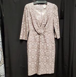 Reiss pale pink lace dress